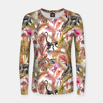 Thumbnail image of Paradise in the pink jungle II Sudadera de algodón para mujer, Live Heroes
