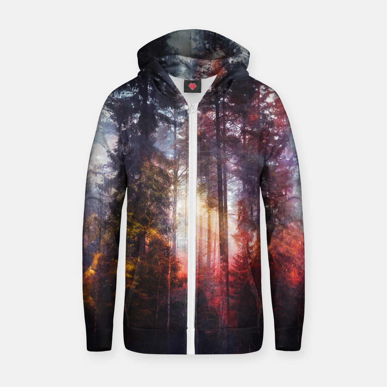Image de Warm Fuzzy Feelings Cotton zip up hoodie - Live Heroes