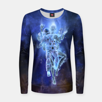 Thumbnail image of Deep Space Embrace Woman cotton sweater, Live Heroes