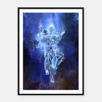 Thumbnail image of Deep Space Embrace Framed poster, Live Heroes