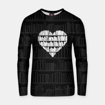 Thumbnail image of Book Lover Cotton sweater, Live Heroes