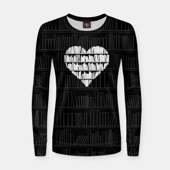 Thumbnail image of Book Lover Woman cotton sweater, Live Heroes