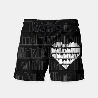 Thumbnail image of Book Lover Swim Shorts, Live Heroes