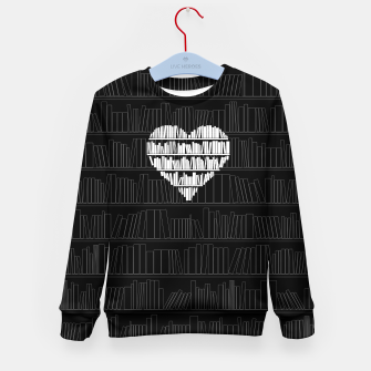 Thumbnail image of Book Lover Kid's sweater, Live Heroes