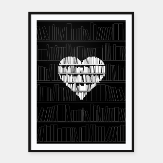 Thumbnail image of Book Lover Framed poster, Live Heroes