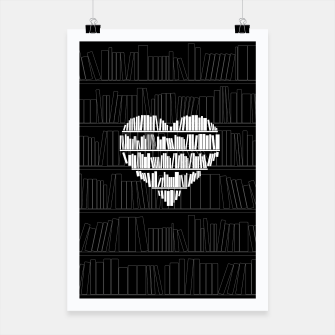 Thumbnail image of Book Lover Poster, Live Heroes
