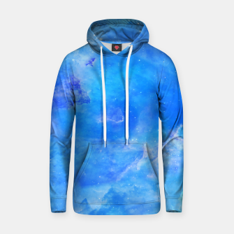 Thumbnail image of Galaxy blue Cotton hoodie, Live Heroes