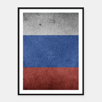 Miniaturka  Grunge Russia Flag Framed poster, Live Heroes