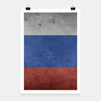 Miniaturka  Grunge Russia Flag Poster, Live Heroes