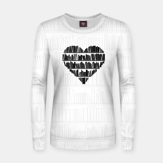 Thumbnail image of Book Lover II Woman cotton sweater, Live Heroes