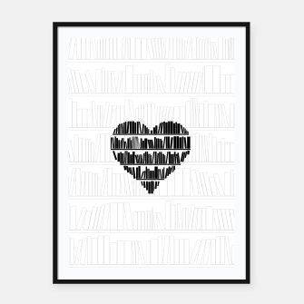 Thumbnail image of Book Lover II Framed poster, Live Heroes