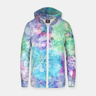 Miniatur Floral Fantasy Cotton zip up hoodie, Live Heroes