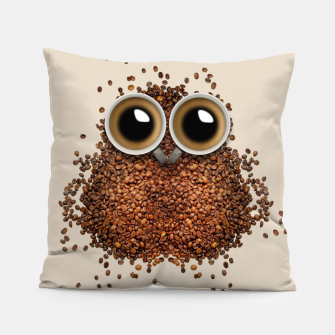 Thumbnail image of Coffee Owl Pillow, Live Heroes