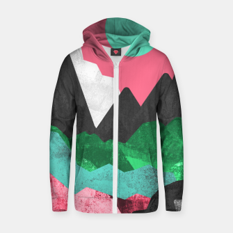Miniatur Rocks of the landscape Cotton zip up hoodie, Live Heroes