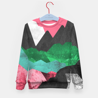 Miniatur Rocks of the landscape Kid's sweater, Live Heroes