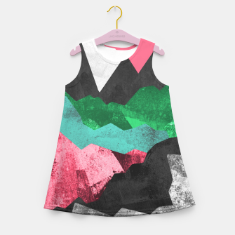 Miniatur Rocks of the landscape Girl's summer dress, Live Heroes