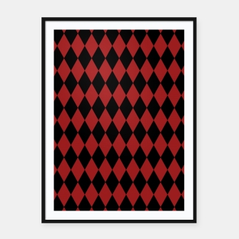 Thumbnail image of Jester Black and Red Framed poster, Live Heroes