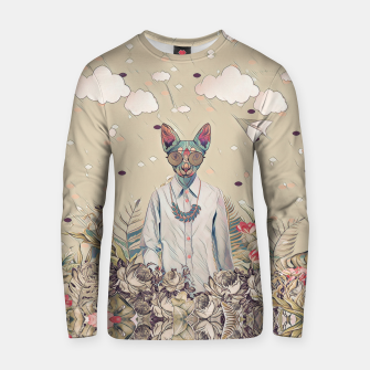 Thumbnail image of Floral cat Cotton sweater, Live Heroes