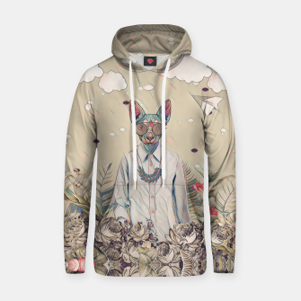 Thumbnail image of Floral cat Cotton hoodie, Live Heroes