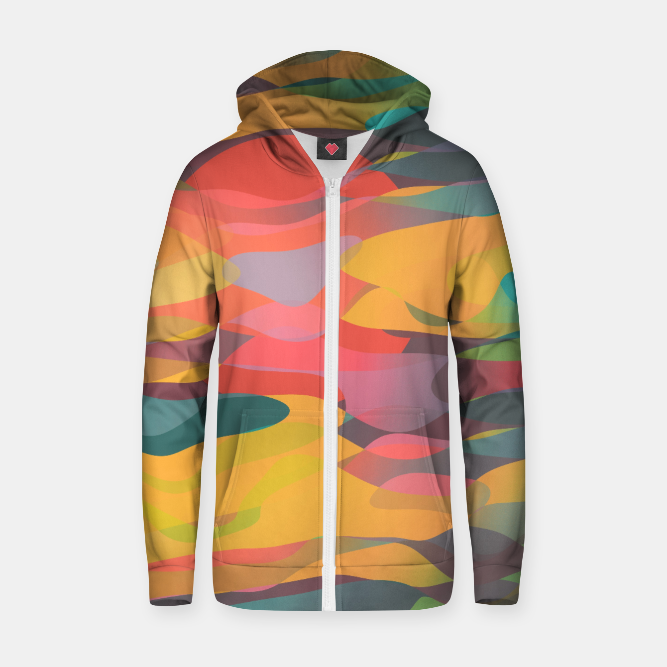 Image of Fairytale Sunset Cotton zip up hoodie - Live Heroes