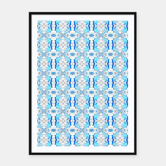 Thumbnail image of Exotic Blue Pattern Framed poster, Live Heroes