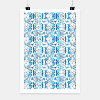 Thumbnail image of Exotic Blue Pattern Poster, Live Heroes