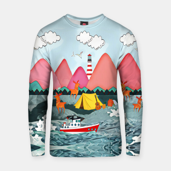 Thumbnail image of Lighthouse and the boat Cotton sweater, Live Heroes