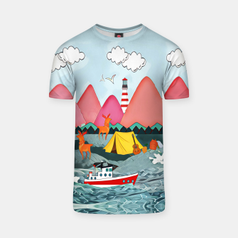 Thumbnail image of Lighthouse and the boat T-shirt, Live Heroes
