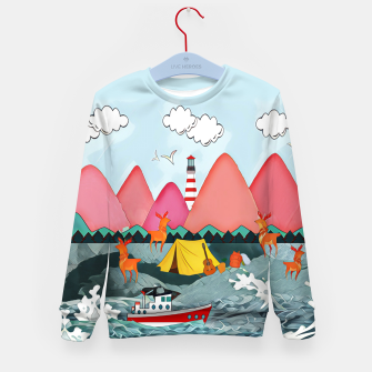 Thumbnail image of Lighthouse and the boat Kid's sweater, Live Heroes