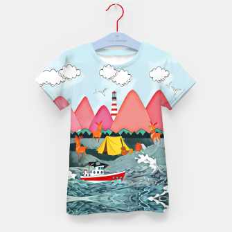 Imagen en miniatura de Lighthouse and the boat Kid's t-shirt, Live Heroes