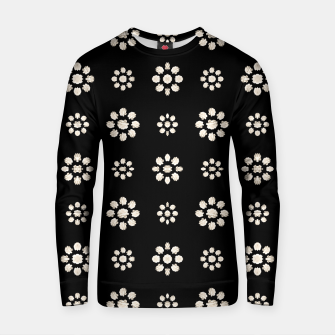 Thumbnail image of Dark Stylized Floral Pattern Cotton sweater, Live Heroes