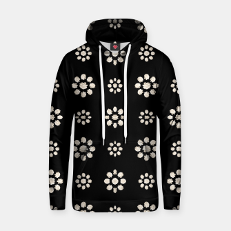 Thumbnail image of Dark Stylized Floral Pattern Cotton hoodie, Live Heroes
