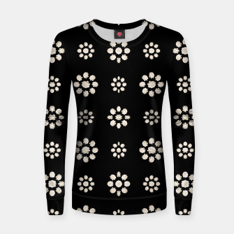 Thumbnail image of Dark Stylized Floral Pattern Woman cotton sweater, Live Heroes