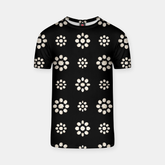 Thumbnail image of Dark Stylized Floral Pattern T-shirt, Live Heroes