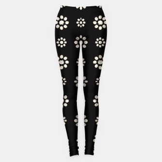 Thumbnail image of Dark Stylized Floral Pattern Leggings, Live Heroes