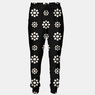 Thumbnail image of Dark Stylized Floral Pattern Cotton sweatpants, Live Heroes