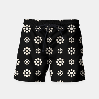 Thumbnail image of Dark Stylized Floral Pattern Swim Shorts, Live Heroes
