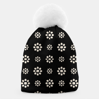 Thumbnail image of Dark Stylized Floral Pattern Beanie, Live Heroes