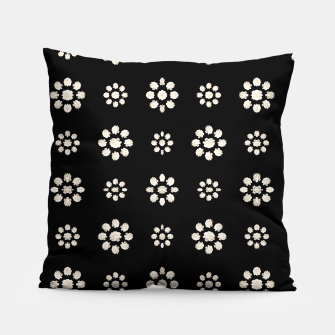 Thumbnail image of Dark Stylized Floral Pattern Pillow, Live Heroes