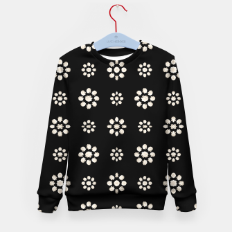 Thumbnail image of Dark Stylized Floral Pattern Kid's sweater, Live Heroes