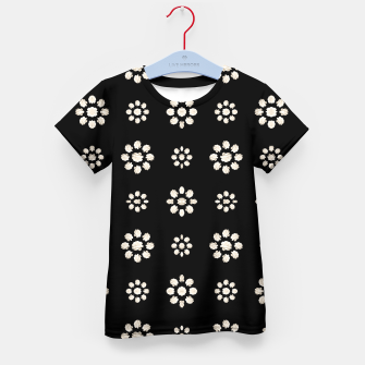 Thumbnail image of Dark Stylized Floral Pattern Kid's t-shirt, Live Heroes