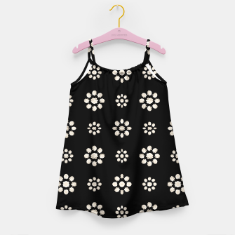 Thumbnail image of Dark Stylized Floral Pattern Girl's dress, Live Heroes