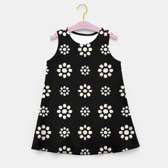 Thumbnail image of Dark Stylized Floral Pattern Girl's summer dress, Live Heroes