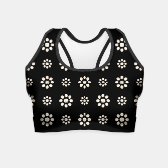 Thumbnail image of Dark Stylized Floral Pattern Crop Top, Live Heroes