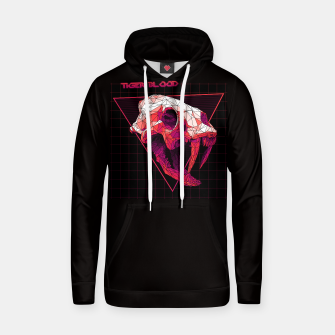 Thumbnail image of Tiger Blood 80s synthwave retro 3d skull horror rock metal hoodie, Live Heroes