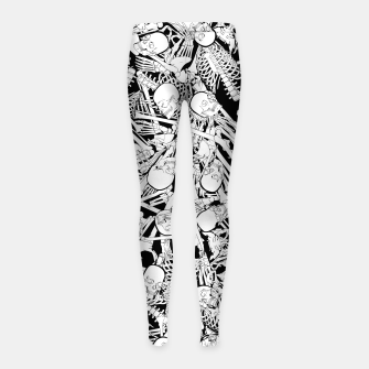 Thumbnail image of The Boneyard Girl's leggings, Live Heroes