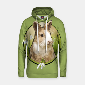Thumbnail image of Cute Bunny - Graphic Style Baumwoll Kapuzenpullover, Live Heroes