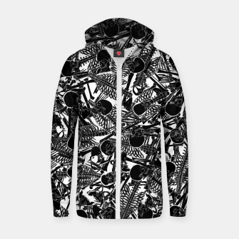 Thumbnail image of The Boneyard II Cotton zip up hoodie, Live Heroes