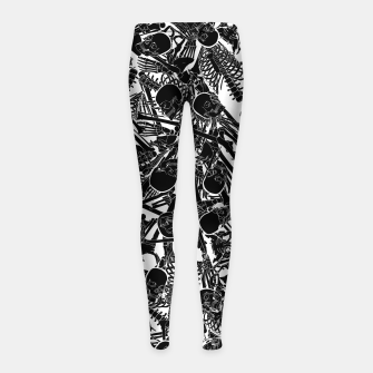Thumbnail image of The Boneyard II Girl's leggings, Live Heroes