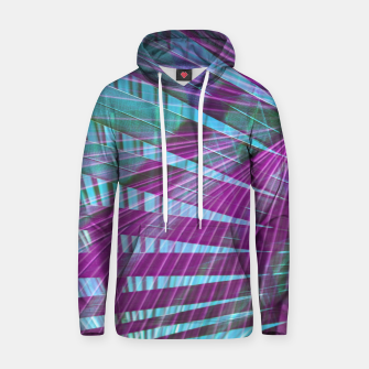 Thumbnail image of Neon Palm Foliage IV Cotton hoodie, Live Heroes